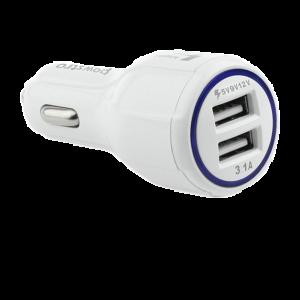 Cargador para autos Qualcomm dual USB carga rápida