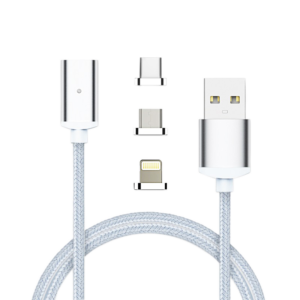 Cable USB magnetico 3 en 1